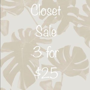 Accessories - 3 for $25 sale
